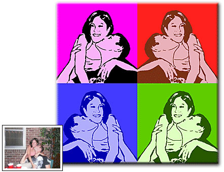 Personalized Andy Warhol inspired pop art from photos