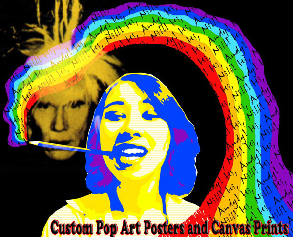 Personalized Andy Warhol inspiration Pop Art