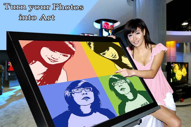 Turn your photo to pop art gift