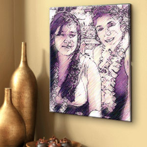 Pastel painting from photo on Canvas