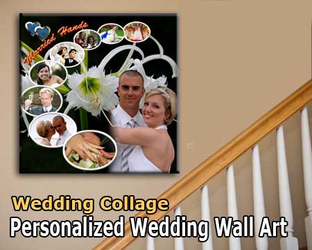 Wedding photo collage design