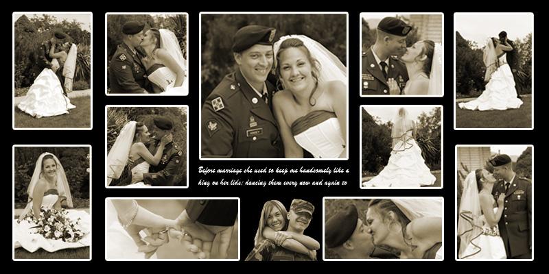 Custom Military Wedding photomontage