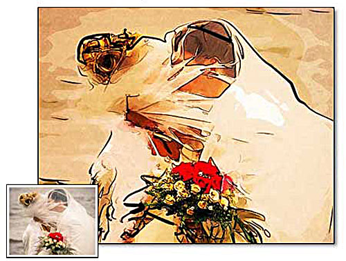 Wedding Gift Painting Suggestions : 1st wedding anniversary giftpainting from photo