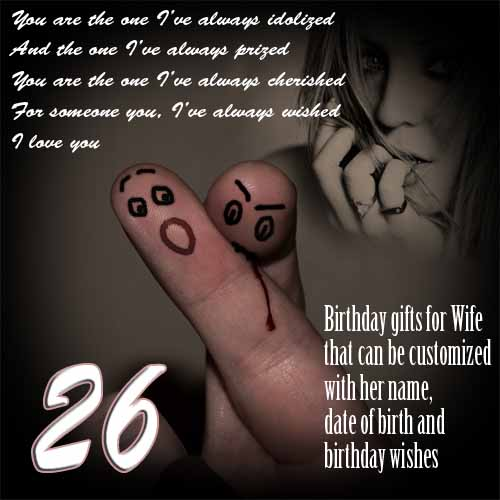 DIY 26th birthday gift ideas for wife, surprise Ecard for women's b-day