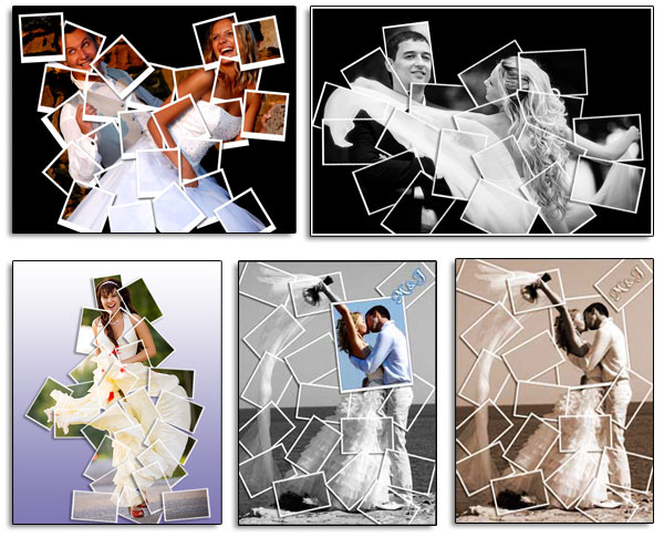 Wedding anniversary photo collages