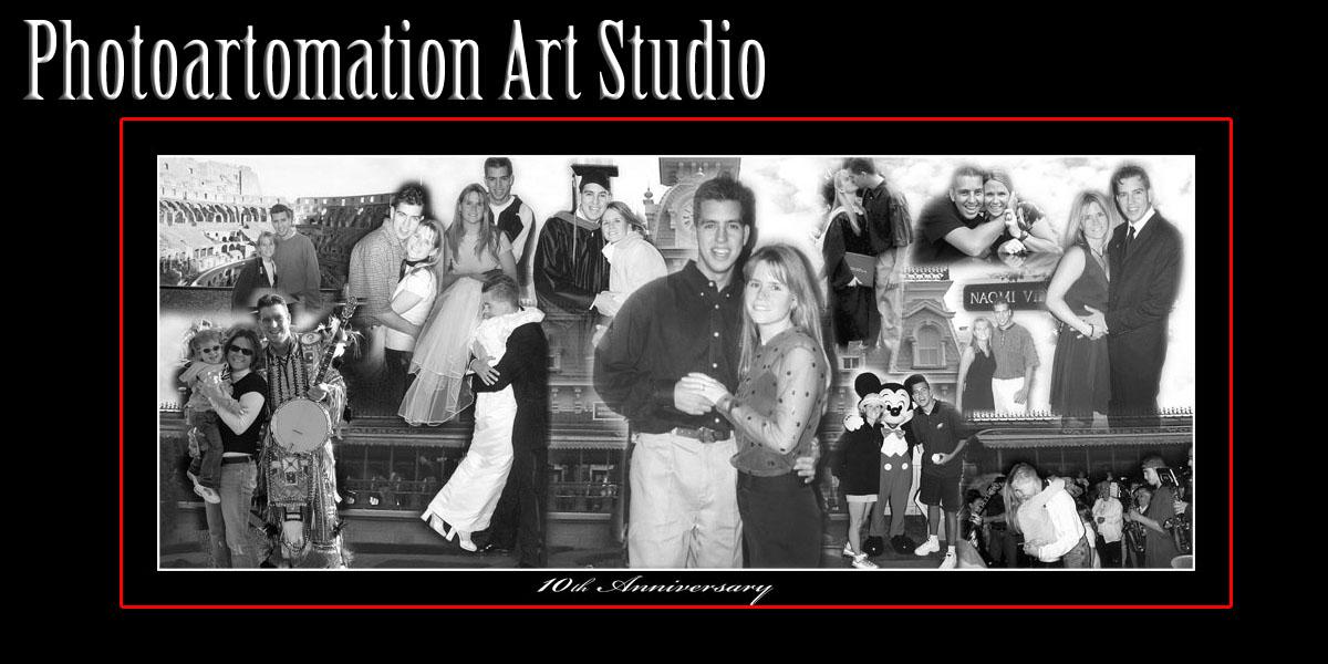 Panoramic Wedding Collage, 10, 11, 12, 13, 14, 15 Anniversary gift ideas