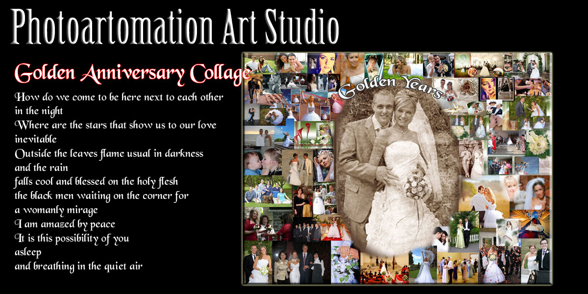Wedding Collage, 25, 26, 27, 28, 29, 30 Anniversary gift ideas
