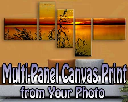 Custom Multi Panel Wall Art from photo  for any room decoration