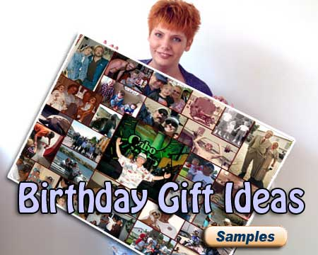 Great Birthday photo gift ideas for mom, dad wife, husband, girlfriend, boyfriend  customized with date of birth and wishes