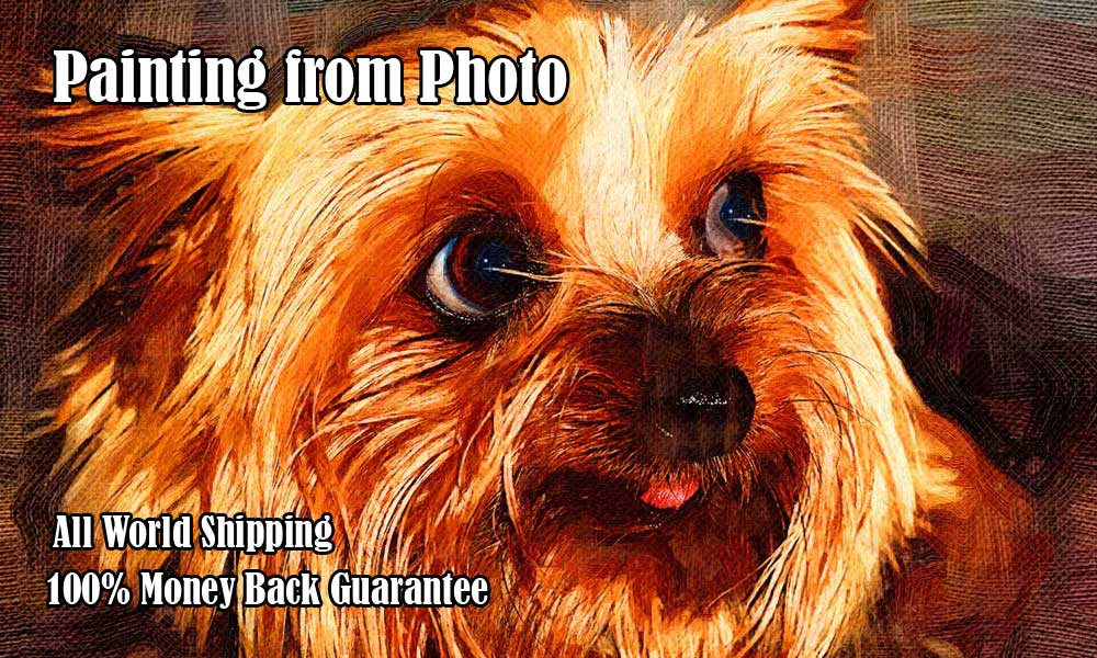 Turn Pet photo to canvas oil painting