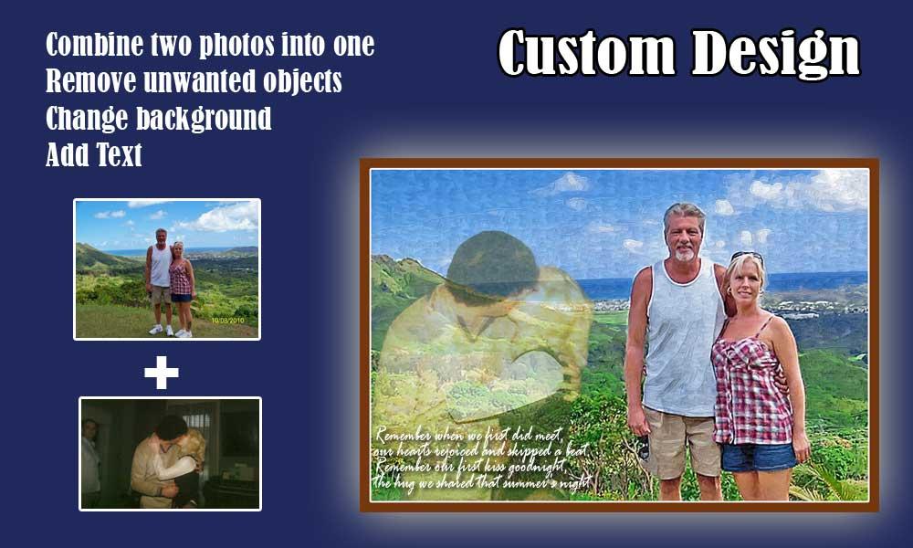 Custom photo design for gift