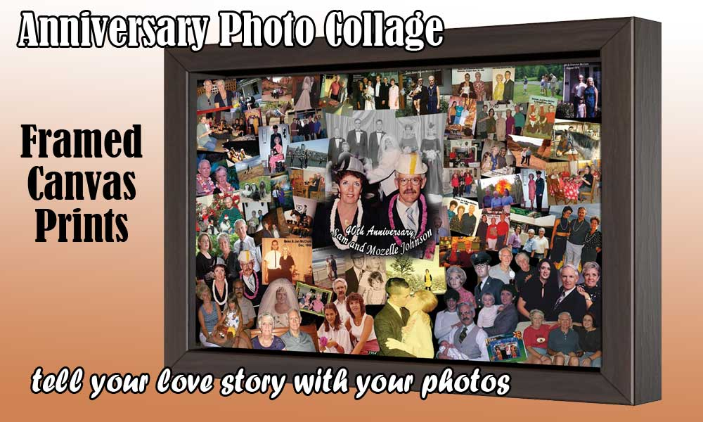 Create your anniversary collage for wife, husband, parents