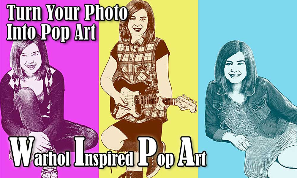 Turn your photo to pop art for gift