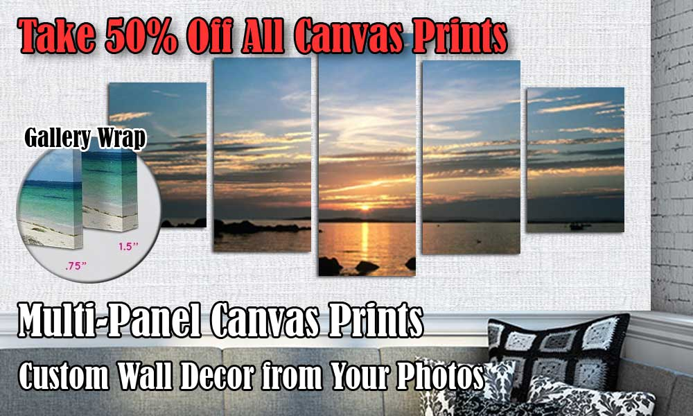Custom wall canvas from photo for your room decor