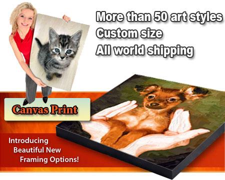 Custom Pet Portrait Painting from Photo