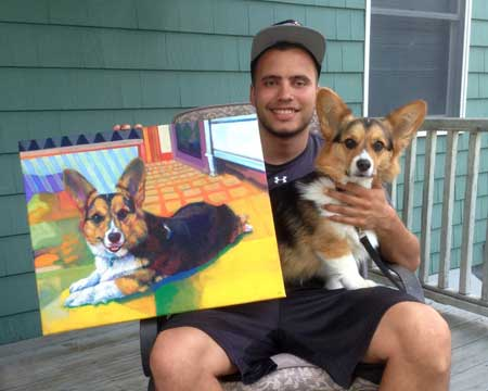 Custom Pet Portrait Painting from dog-cat Photos, Size and Pricing comparison