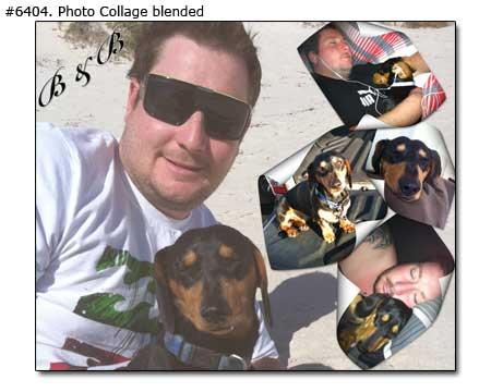 Best friends portrait collage