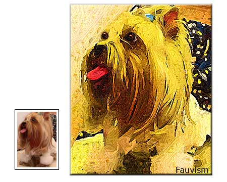 Pet portrait fauvism painting