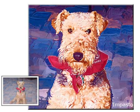 Pet portrait painting impasto painting