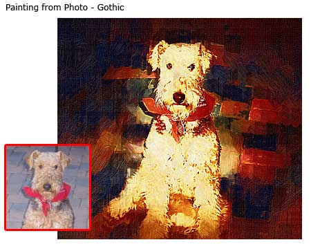 Dog portrait gothic painting