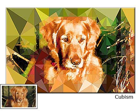 Cubism painting Pet Portrait