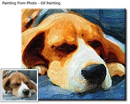 Custom pet portrait oil painting