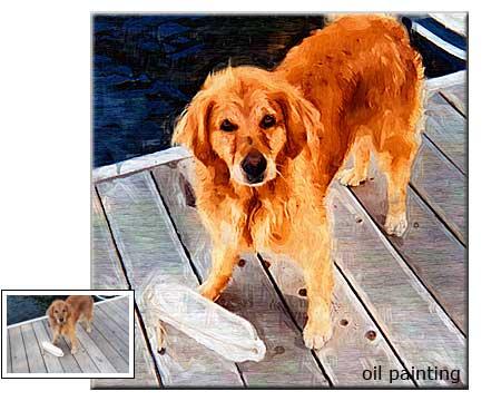 Canvas painting pet portrait