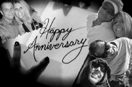 Happy 1 year dating anniversary photo gift, black-white collage ideas for boyfriend