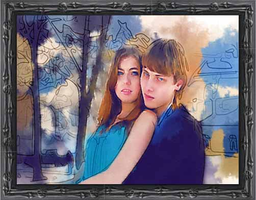 Romantic Anniversary Gift Ideas 1-3-5 photo painting
