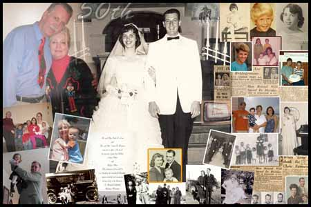 Anniversary collage for Husband