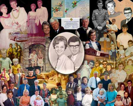 Gift to wife on anniversary - Picture Collage tell the story of an entire relationship