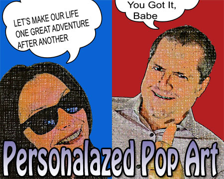 Good anniversary gift for wife – Personalized pop art