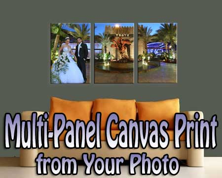 Anniversary gift for Parents from children - multi panel canvas wall art