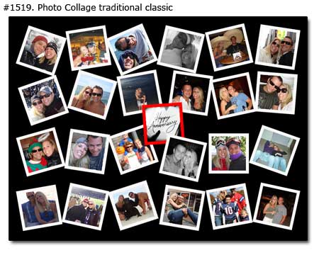 3 year anniversary gift girlfriend, picture collage