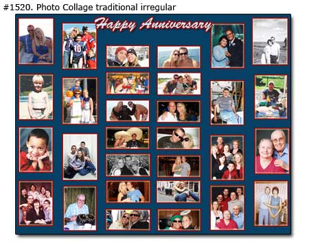 Great 8th wedding anniversary photo collage gift ideas