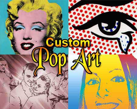 Custom Anniversary Gift Ideas 6:2:4 pop art