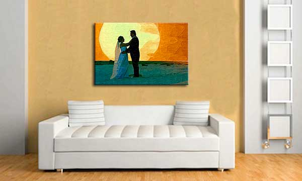Personalized Anniversary gift for husband, Photo Painting from wedding picture