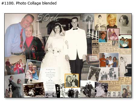 Creative 50th anniversary collage as a gift idea for parents-grandparents