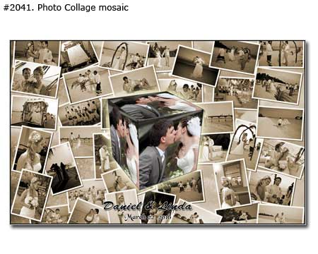 First wedding anniversary gift for parents, picture collage