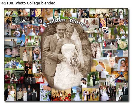Custom 50th wedding anniversary photo collage gift ideas for parents 50 years of marriage