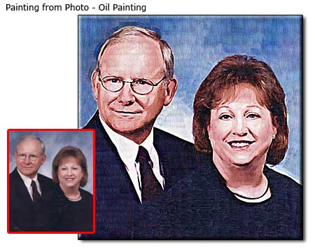 Personalized anniversary photo gift ideas for parents, portrait painting