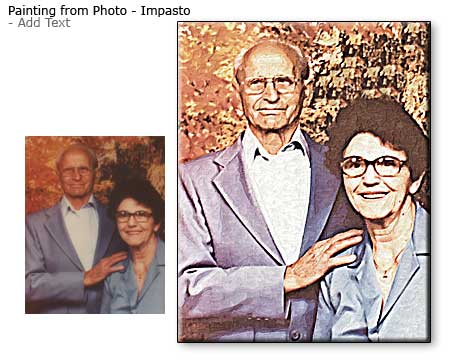 Parents anniversary, turn your mom-dad pictures into art, painting from photo
