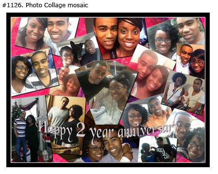 Wife-husband 2nd anniversary, second year of marriage, love story picture collage