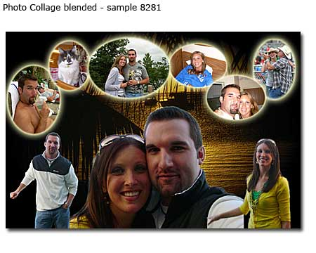 3rd anniversary present for wife on 3 year of married couple – photomontage ideas