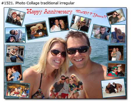 Ideas for wife on anniversary - 7 wonderful years together, personalized gift, $27
