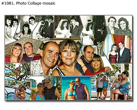 Gift on marriage anniversary to wife – wall art 30 photos collage, $21