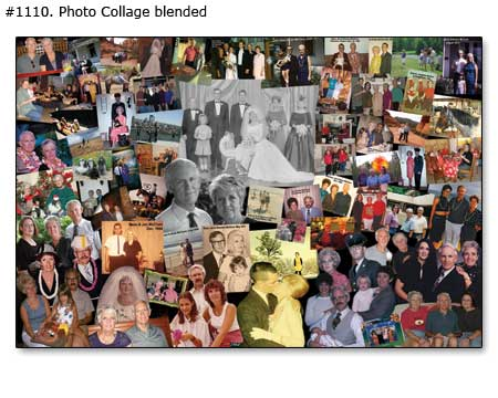 Best gift for wife on wedding anniversary – up to 35 picture collage $22