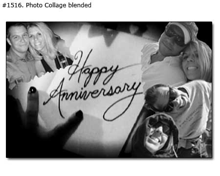 Surprise gift for wife on anniversary – photo collage for first anniversary, 24x32