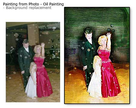 Creative 10 years anniversary gift ideas for wife – artwork from photo, background replacement