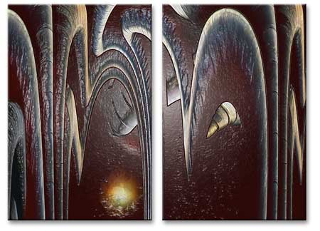 2 Panels Abstract Art Print